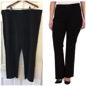 ➕ NYDJ plus size pull on baby bootcut ponte pants